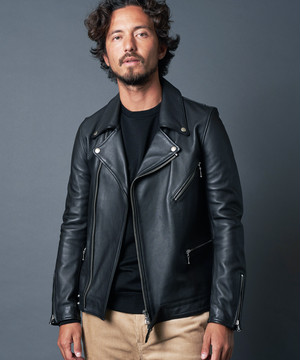SHEEP LEATHER DIRECT SEMI VEGI W RIDERS JACKET