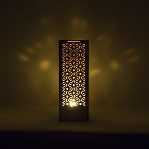 ミニ行灯ー置き型照明 麻の葉模様