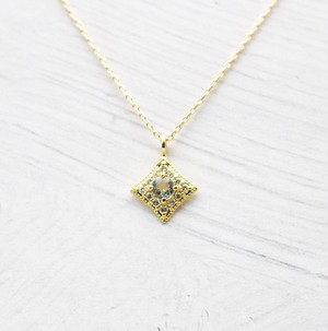 Aquamarine & Diamond Necklace | K18YG