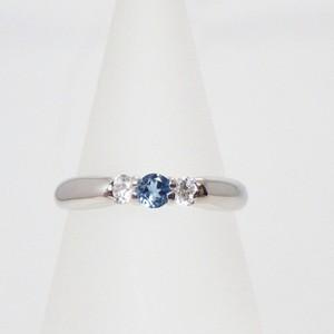 ❤︎ブルートパーズ×ダイヤモンド≪シルバー925≫天然石 リング 指輪