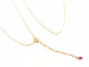 ★K14GFのネックレス★ 40cm (ルビー付き)