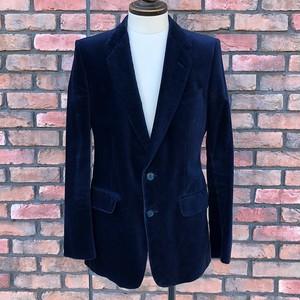 1980s Burton Velvet Jacket Made In England Navy