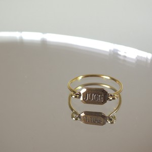 juge plate ring (c/# antique gold)
