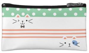 裏表がある子猫・化粧ポーチ(アメリカデザイン)