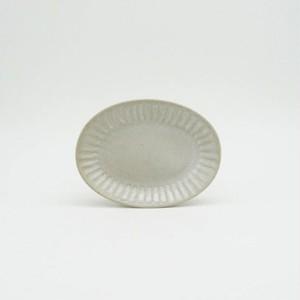 パンとごはんと... (Bread and Rice) ひらひらの器 OVAL MINI PLATE (オーバルミニプレート) 【ホワイト】