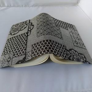 文庫本セパレート式ブックカバー(絹)hb071