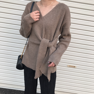 cachecoeur design knit(モカ)