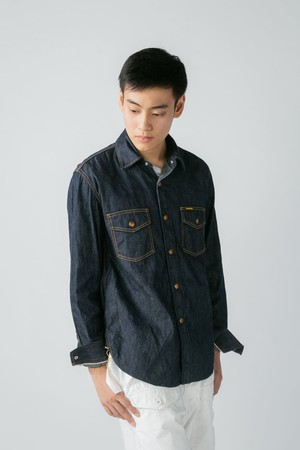 【No. BS603 Color. 08 Indigo One Wash】 Mens Selvage Over Shirts