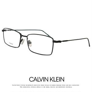 カルバンクライン メガネ ck18119-001 calvin klein 眼鏡 チタン フレーム メンズ レディース titanium メタル Calvin Klein カルバン・クライン スクエア 黒縁 黒ぶち