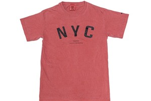 """【""""NYC"""" vintage T-shirt】/ red"""