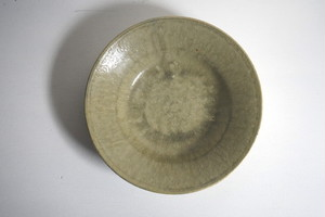 小林耶摩人 6寸リム平鉢(灰釉)