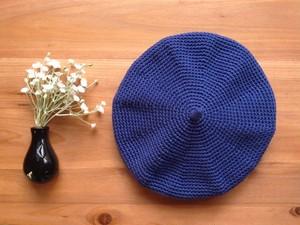 【M/L・インディゴ】コットンベレー帽