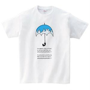 傘 Tシャツ メンズ レディース 半袖 シンプル ゆったり おしゃれ トップス 白 30代 40代 ペアルック プレゼント 大きいサイズ 綿100% 160 S M L XL