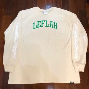 "LEFLAH / レフラー | "" LEFLAH ARCH LOGO "" LongSleeve-T / Natural"