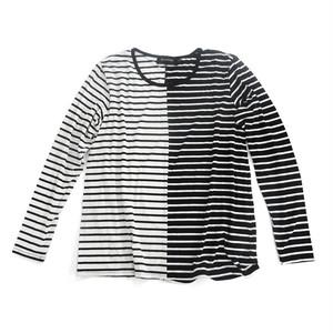 MINKPINK ボーダー長袖カットソーBlack/white stripe