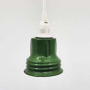 グリーンの小さいペンダントライト(電球つき)