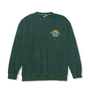 QUARTER SNACKS MOUNTAIN LOGO MICRO FLEECE HUNTER GREEN