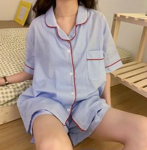【送料無料】ルームウェア♡ライン入り♡パジャマ♡ショート丈♡