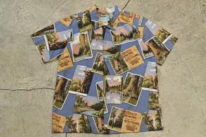 "USED 80s reyn spooner ""Yosemite"" shirt -Kids XL 01004"