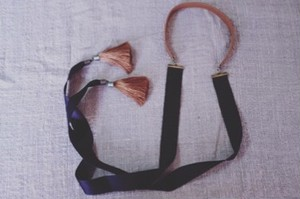 OBIJIME Choker with Silk Ribbon