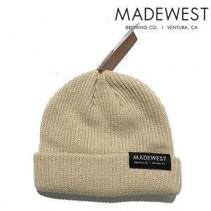 メイドウエスト ロゴ MADE WEST Dock Beanie mw004-stone