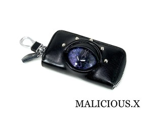 reptiles(A)eye key case / blue violet