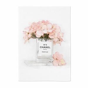 perfume illustration fabric poster B 3size / シャネル ブランド イラスト ファブリックポスター 韓国