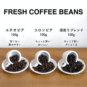 Y's Muffinのコーヒー豆100gずつ3種セット