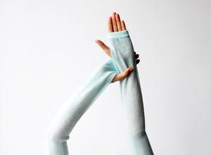 % PERCENT アームカバー(ホワイト&ブルー)抗菌・防臭・吸水・通気性・日焼け予防