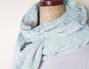 大人の手織り手染めガーゼストール~コットン 290
