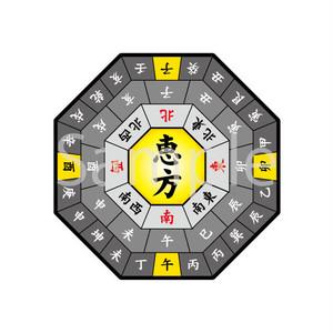 恵方記入用方位 カラー【イラスト素材】
