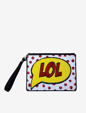 "Alice+Olivia LOL"" Clutch bag"