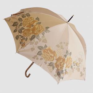 槙田商店 【晴雨兼用】絵おり 薔薇と葡萄 ベージュ