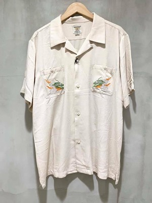 HOUSTON - 刺繍スーベニアシャツ - OFF WHITE/MAIKO