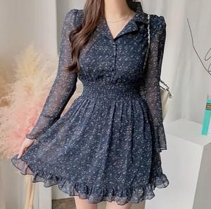 waist mark flower dress