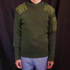 70's British army sweater /Made In U.K. [G-1046]