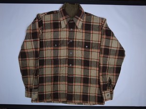 70's Unknown Flannel Wool BOX Shirts
