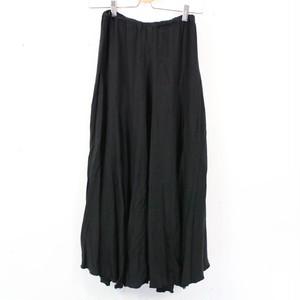 CP SHADES / シーピーシェイズ   レーヨンウールロングスカート   XS   ブラック