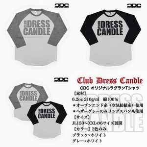 Club Dress Candle Original Raglan sleeve T-shirt