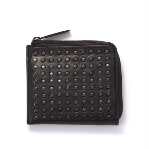 174AWA11 Leather L-zip wallet 'all-studs' L字ファスナーウォレット