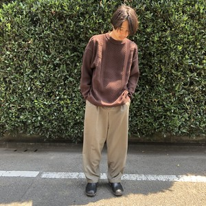 "YASHIKI 2019 AW ""Arare Knit"" BROWN"