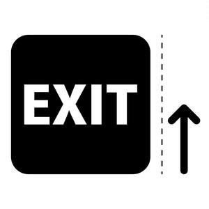 出口 EXIT 案内 マーク(矢印付き)のカッティング ステッカー シール