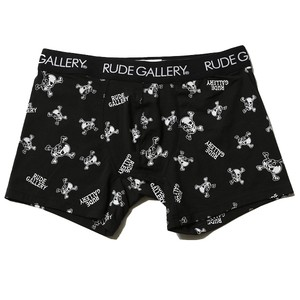 BOXER SHORTS - CROSSBONE (BLACK) / RUDE GALLERY