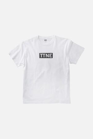 TTNE Box Logo Tee - White/Black Logo