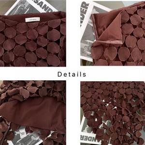 透かし彫りデザインストレートスカート LUM5208