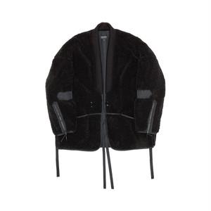 Tux Haori Fleece Jacket_black 羽織ジャケット フリース