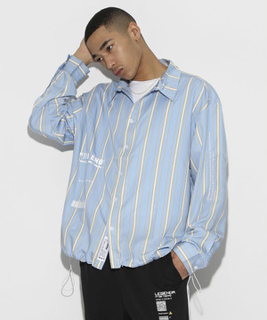 Color Stripe Shirts [Sax Blue]