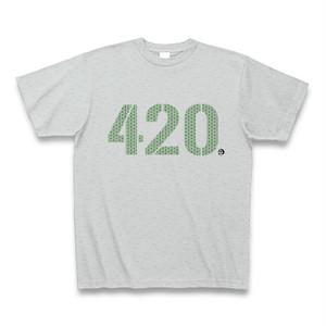 """""""420 """" 大麻 Tシャツ グレー"""