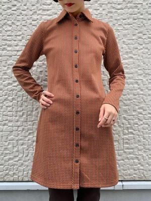 (TOYO) mulch colour shirt tight one-piece