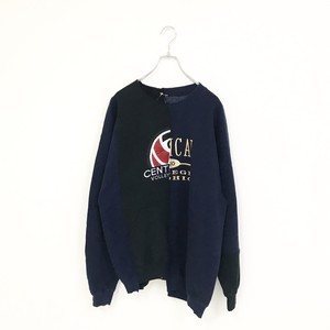 REMAKE SWEAT(NAVY×BLACK)
